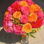 Menyasszonyi csokor rózsából
