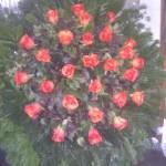 Rózsa kegyeleti koszorú rendelésre