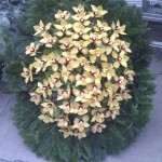 Sárga orchidea koszorú készítése